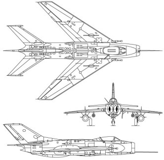 Vector MiG-19 Fighter Aircraft Perspective