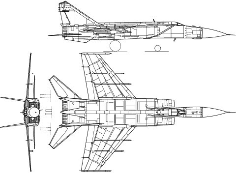 Vector MiG-25 Fighter Aircraft Perspective