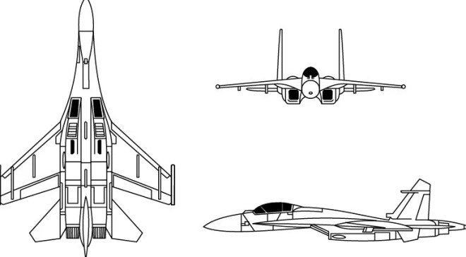 Vector Sukhoi Su-27 Flanker Fighter Aircraft Perspective