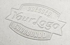 Pressed Cardboard Logo MockUp PSD