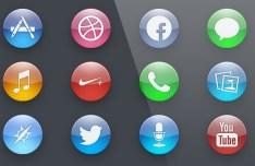 Circular Nano Icons PSD