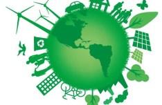 Blue Planet Green Earth Concept Illustration Vector 04