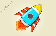 Cartoon Rocket PSD