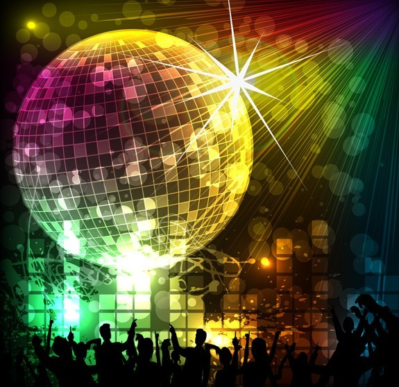 Cool Night Music Party Background Vector 03