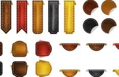 Set Of Vector Elegant Leather Web Elements