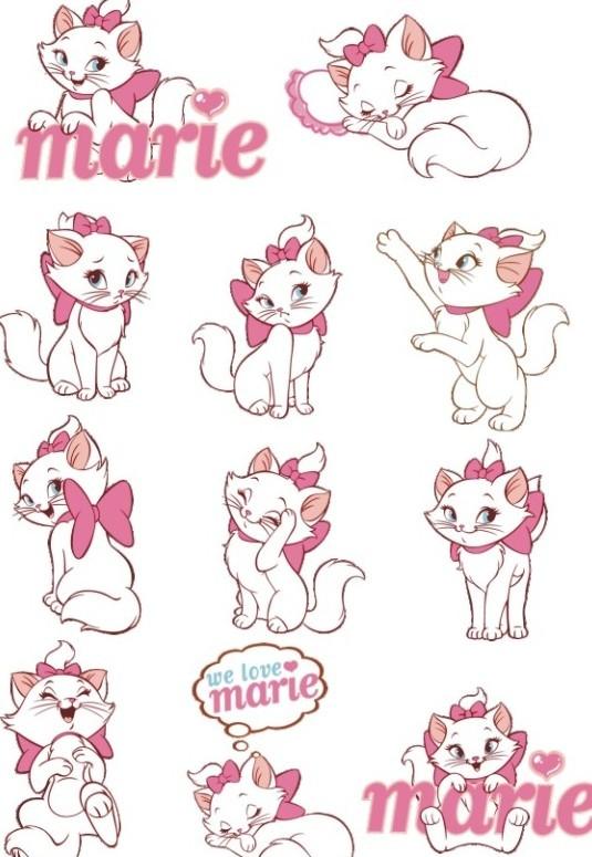 Vector Disney Marie Cat Set 02