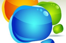 Colored Glossy Bubbles Vector