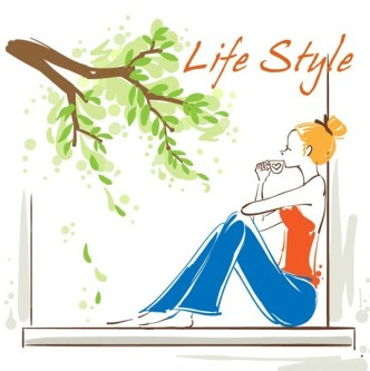 Vector Illustration Of Fashion City Girl Life Style 01