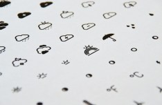 Minimal Weather Line Icon Set PSD