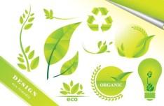ECO Friendly Green Symbol Set Vector 02