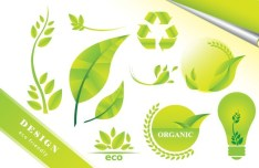 ECO Friendly Green Symbol Set Vector 02