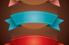 3 Elegant Vector Ribbons
