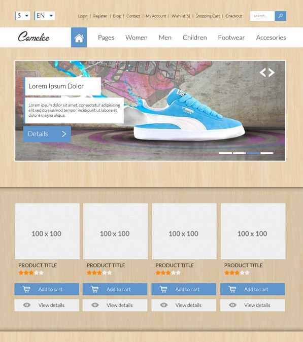 Free comelce flat e commerce website template psd titanui comelce flat e commerce website template psd cheaphphosting Images