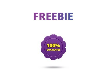 Purple Guarantee Icon PSD