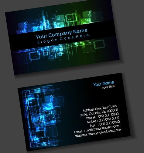 Free Dark Digital Business Card Design Vector - TitanUI