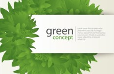 Go Green Concept Paper Label with Green Leaf Background Vector