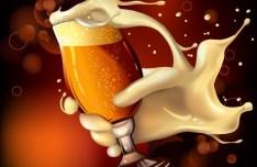 Vector Beer Splash Illustration 01