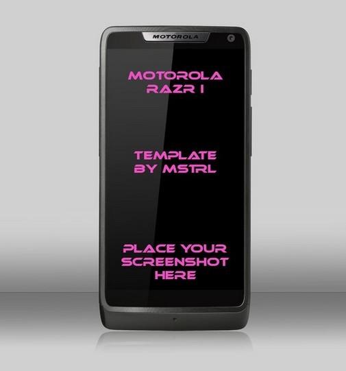 Motorola Razr PSD Template