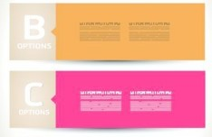 Vector Clean Paper Options Labels For Infographic Design