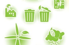 ECO Friendly Green Symbol Set Vector 09