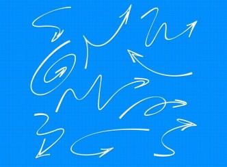 Hand Drawn Arrows PSD