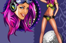 Vector Sexy Nigh Club Girl Illustration