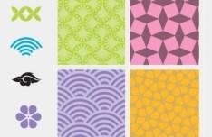Set Of Vector Vintage Pattern Elements