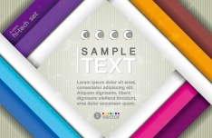 Colored HI-Tech Text Background Vector 03