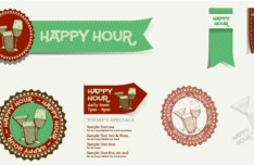 Vintage Happy Tour Drinks Labels 02