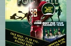 Monday Night Football Flyer PSD
