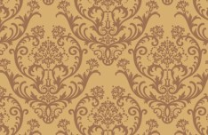 Seamless Brown Vintage Floral Background Vector 02