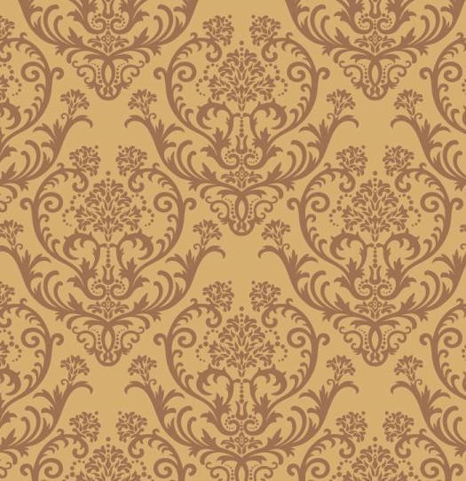 free seamless brown vintage floral background vector 02