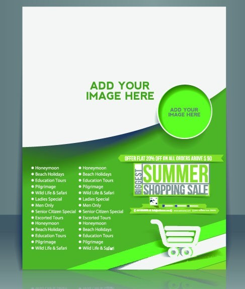 Creative Business Flyer Brochure and Magazine Cover Vector 01