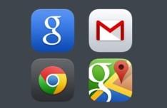 Google iOS 7 App Icons PSD