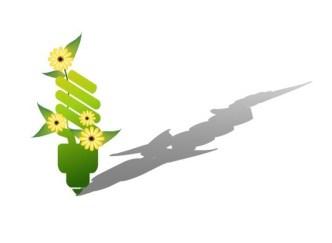 ECO Concept Creative Green Light Bulb Design Vector 01