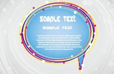 Colored Speech Bubble Style Text Frame Vector 01