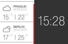 Weather and Time Widget For iPhone 6 PSD