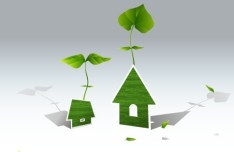 Green ECO World Campaign House Vector Illustration