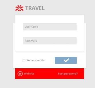 Travel User Login Form UI PSD
