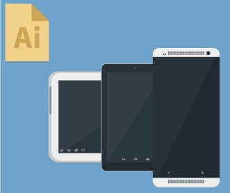 Android Devices Mockup Vector