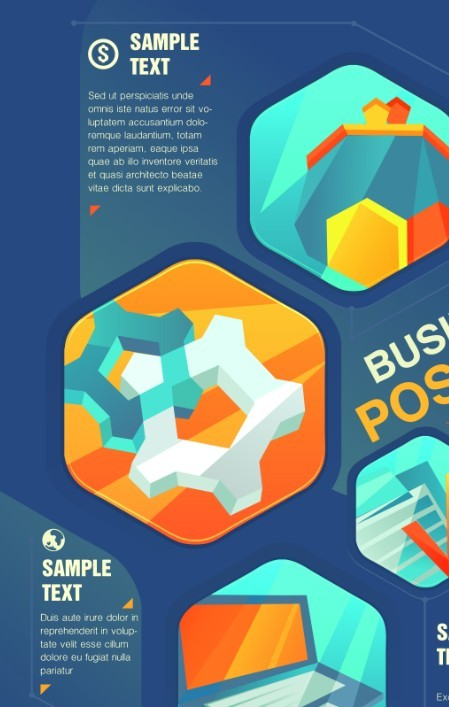 Free Creative Business Poster Cover Design Vector 02 - TitanUI
