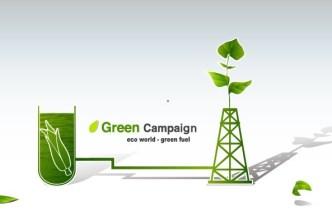 Green ECO World Campaign Green Fuel Vector Illustration