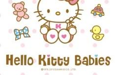 Hello Kitty Babies Vector Illustration
