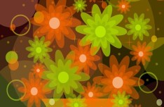 Bright and Fresh Background Flowers Vector 04