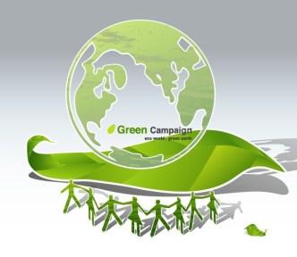 Green ECO World Campaign Green Earth Vector
