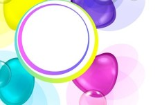 Colored Abstract Water Drops Background Vector 01