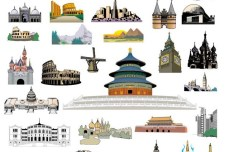 Set Of Vector World Famous Landmark Buildings