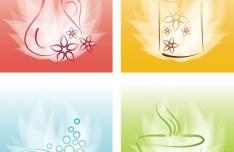 Colored Vector SPA Design Elements 01