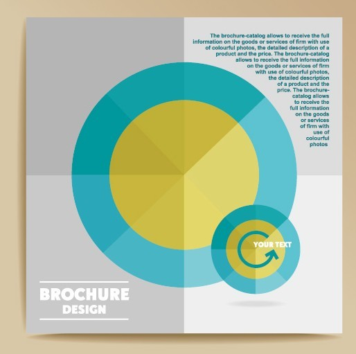Fashion Flat Business Brochure Design Vector 03