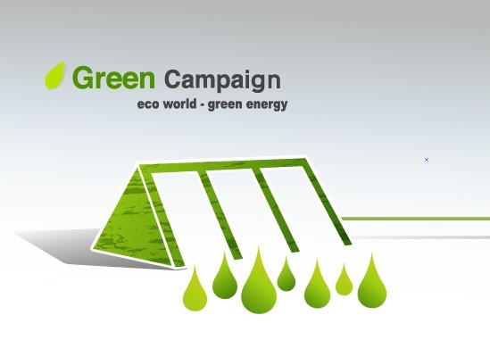Green ECO World Campaign Green Energy Vector 04